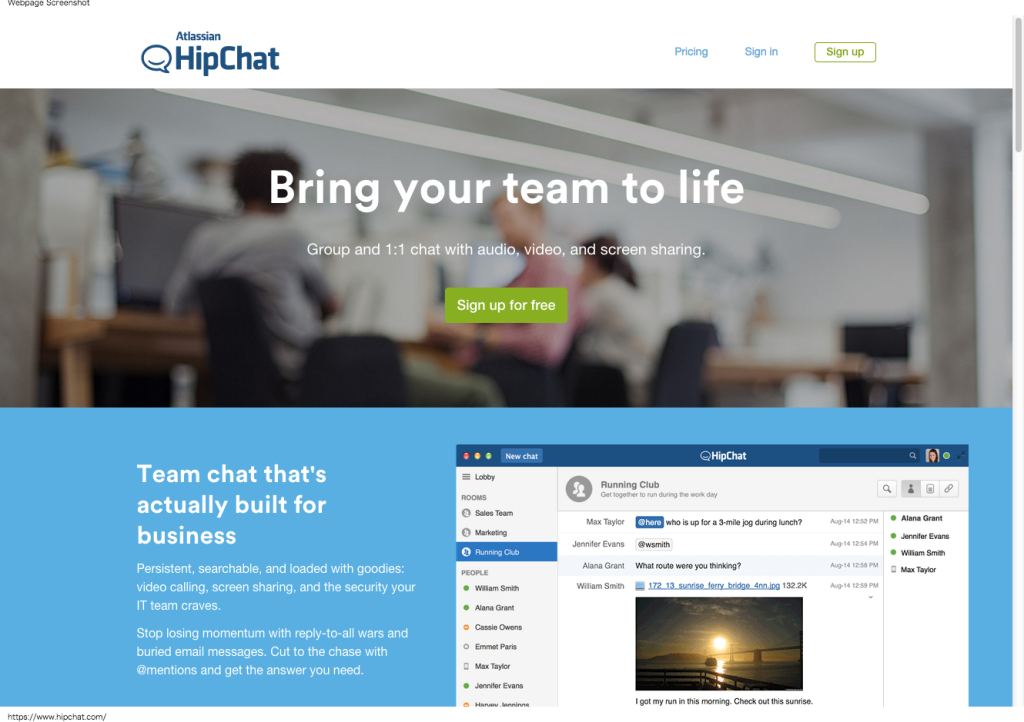 Private group chat, video chat, instant messaging for teams – HipChat
