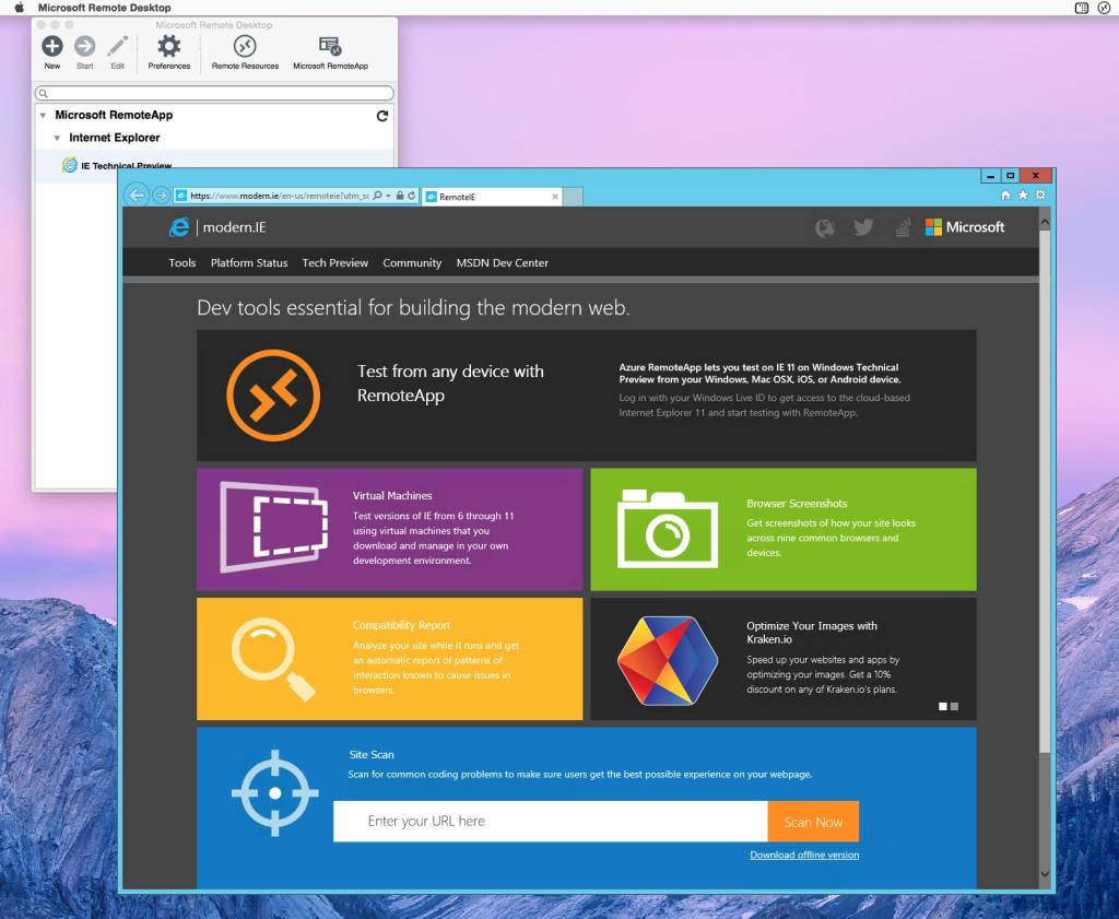 Microsoft RemoteIE